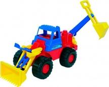 Трактор Нордпласт Носорог с ковшом