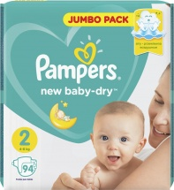 Подгузники Pampers New Baby 2 (4-8 кг) 94 шт