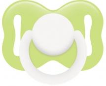 Пустышка Lubby Круглая зеленая латекс круглая с 3 мес