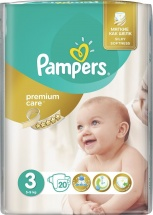 Подгузники Pampers Premium Care 3 (5-9 кг) 20 шт