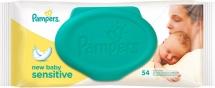 Влажные салфетки Pampers Sensitive New Baby 54 шт