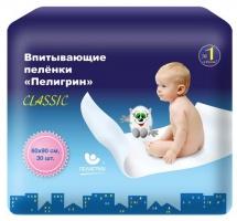 Впит. пеленки Пелигрин Classic 60х90 см, 30 шт