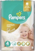 Подгузники Pampers Premium Care 4 (8-14 кг) 20 шт