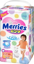 Трусики Merries XL (12-22 кг) 38 шт