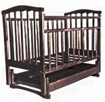 """Кроватка """"Золушка-4"""", 120х60, маятник поперечный, ящик, Шоколад, Агат"""