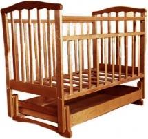 Обычная кроватка Агат 52101 Золушка-4 Орех