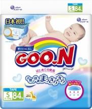 Подгузники Goon S (4-8 кг) 84 шт