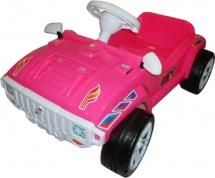 Машинка-каталка Орион с педалями, розовый