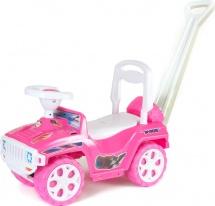 """Машина-каталка """"Ориончик"""" с ручкой Орион, розовый"""