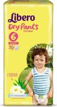 Трусики Libero Dry Pants 6 (13-20 кг) 30 шт