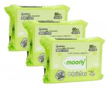 Влажные салфетки Moony 80х3 шт