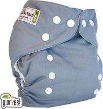Многоразовый подгузник GlorYes Classic (3-15 кг) серый