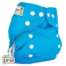Многоразовый подгузник GlorYes Classic (3-15 кг) синий