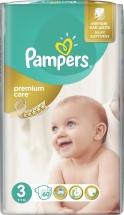 Подгузники Pampers Premium Care 3 (5-9 кг) 60 шт