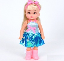 """Кукла """"Настенька"""" в платье 20 см"""