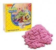 """Космический песок 1Toy """"Губка Боб"""" 0,5 кг (розовый)"""