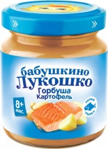 Пюре Бабушкино лукошко Горбуша-Картофель с 8 мес 100 г