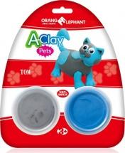 """Пластилин Orange Elephant """"Домашние животные. Кот"""" 2 цв"""