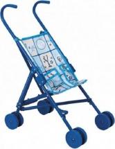 Коляска-трость для кукол Buggy Boom Mixy пластмассовая, голубой
