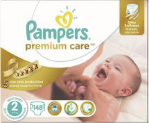 Подгузники Pampers Premium Care 2 (3-6 кг) 148 шт