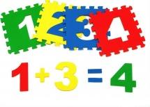 Коврик-пазл Pol-par Математика 25х25 см 15 дет