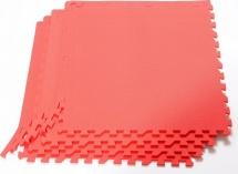Мягкий пол универсальный Pol-par 60х60 см 4 дет, красный