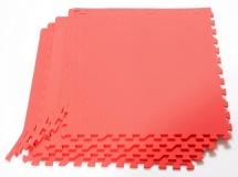 Мягкий пол универсальный, 4 дет., 60х60 см, красный, Pol-par