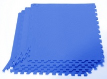 Мягкий пол универсальный, 4 дет., 60х60 см, синий, Pol-par