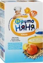 Каша молочная овсяная с персиками, с 5мес., 200гр., ФрутоНяня