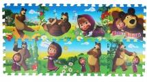 """Коврик-пазл """"Маша и Медведь"""", 31,5х31,5 см., 8 дет., Играем вместе"""
