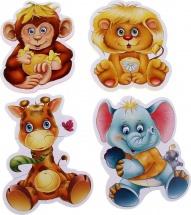 Пазлы мягкие Vladi Toys Baby puzzle. Зоопарк 16 элементов
