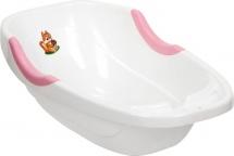 Ванночка Полимербыт Малютка бело-розовая