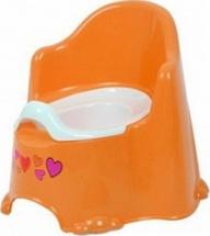 Горшок детский Пластик-Центр Комфорт с крышкой , оранжевый