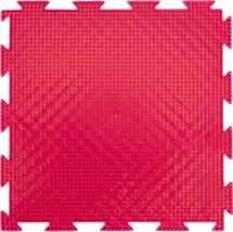 Массажный коврик Орто Трава жесткий 25x25 см, розовый