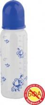 Бутылочка Курносики 250 мл, синий