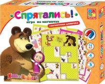 "Игра на магнитах Vladi Toys ""Маша и Медведь. Спрятались"""