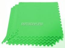 Мягкий пол универсальный, 4 дет., 60х60 см, зеленый, Pol-par