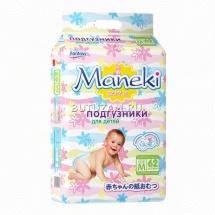 Подгузники Maneki M (6-11 кг) 62 шт