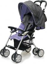 Коляска прогулочная Jetem Elegant Dark Grey/Purple, полоска