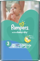 Подгузники Pampers Active Baby 3 (4-9 кг) 10 шт