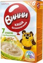 Каша безмолочная 7 злаков с пребиотиками с 6 мес., 220 гр., Винни