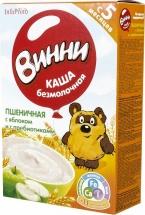 Каша безмолочная Пшеничная с яблоком и с пребиотиками с 5 мес., 220 гр., Винни