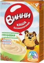 Каша безмолочная Гречневая низкоаллергенная с пребиотиками с 4 мес., 220 гр., Винни