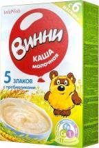 Каша молочная 5 злаков с пребиотиками с 6 мес., 220 гр., Винни
