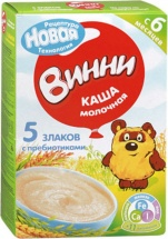 Каша Винни молочная 5 злаков с пребиотиками с 6 мес 200 г