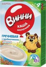 Каша молочная Гречневая с пребиотиками с 4 мес., 220 гр., Винни