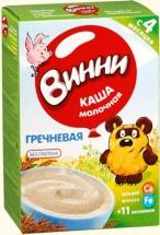 Каша Винни молочная гречневая с пребиотиками с 4 мес 220 г