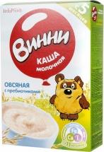 Каша молочная Овсяная с пребиотиками с 5 мес., 220 гр., Винни
