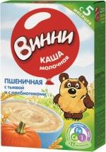 Каша молочная Пшеничная с тыквой и с пребиотиками с 5 мес., 220 гр., Винни