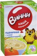 Каша Винни молочная пшеничная с тыквой,с пребиотиками с 5 мес 220 г